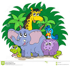 group of zoo animals clipart. Group Of African Animals To Zoo Clipart