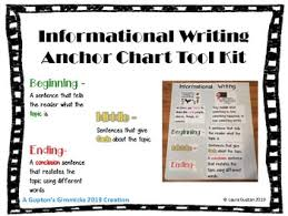 Informative Writing Anchor Chart Tool Kit
