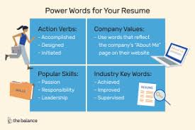 Power Word For Resumes Key Resume Action Words Luxury Action Word For Resume Action Verbs