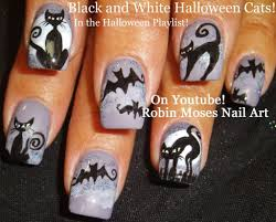 Halloween ~ Nail Art Easy Halloween Nails Bats Catssign ...