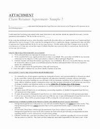 Sample Retainer Agreement Legal Service Agreement Template Inspirational Agreement Retainer 7