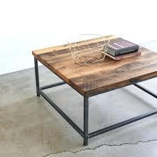 steel coffee table square stoic reclaimed wood box frame australia