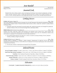Example Of Chef Resume Chef Resumes Personal Resume Best Templates Chef Resume Sample 9