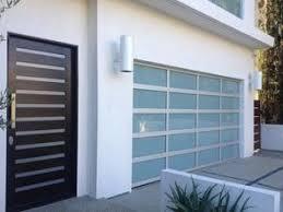 Contemporary Aluminum U0026 White Laminate Privacy Glass Garage Door