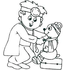 Veterinarian Coloring Page Veterinarian Coloring Page Fun Time