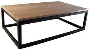 pk steel white oak top with black steel base coffee table