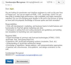 Here is sample interview request received from LinkedIn