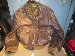 details about vintage schott flight jacket i s 674 m s brown leather sz 50 brothers inc talon
