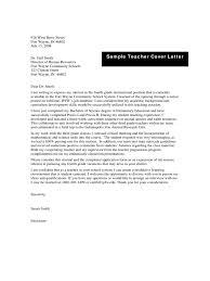 Sample Teacher Cover Letter Edit Fill Sign Online Bunch Ideas Of