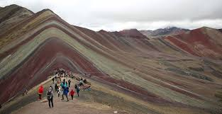 the rainbow mountain in southeastern peru has bee a must see attraction but environmentalists fear damage to the remote landscape