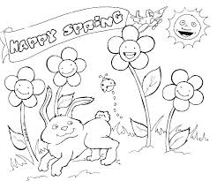 Free Preschool Coloring Pages Spring Ring Flowers Unique Printable