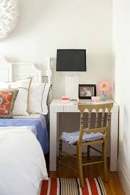 desk in small bedroom. Interesting Small If Youu0027re Looking To Pull Off The Same Idea In Your Bedroom Follow Kateu0027s  Lead By Snagging This West Elm Parsons Mini Desk 254 Originally 299 Intended In Small Bedroom L
