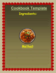 Cookbook Templates What Kind Of Do You Want When Create Your