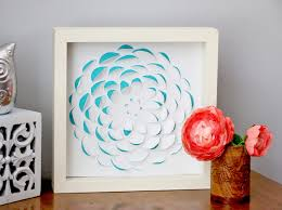 last week i was going through our warehouse just checking out all of the supplies we had i started grabbing random products and putting them in a box  on 3d paper flower shadow box wall art with blitsy thursdays diy artwork happiness is creating
