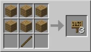 to make a banner or sign in minecraft
