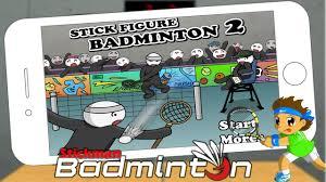 stick figure badminton stickman 2 players y8 50 screenshot 1