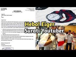 Viral surat teguran eiger kepada youtuber karena review, ernest hingga reza arap ikut angkat bicara. Eiger Surati Youtuber Soal Produk Yang Di Review Youtube