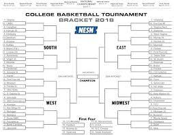 Printable 2018 College Basketball Tournament Bracket Make Your
