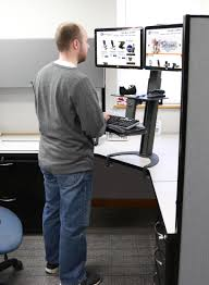 how to get a standing desk in your cubicle best standing desks for corporate cubicles