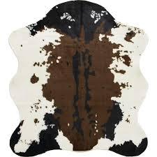 classic safari 56 x 61 cow print rug