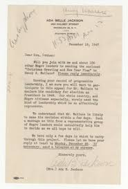Letter from Ada Belle Jackson to Shirley Graham - Digital Commonwealth