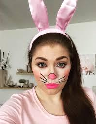 pretty rabbit face makeup