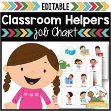 Classroom Jobs Chart Classroom Helpers Job Kit Pre K Pages