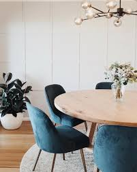our blue mid century velvet dining chair spotted looking in this dining e by keeley somethingmore now on westelm