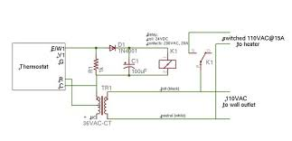 space heater controlled by digital thermostat steps pictures schematic