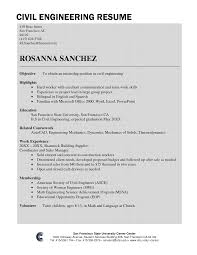 Civil Engineer Resume Template Engineering Picture Examples Resume