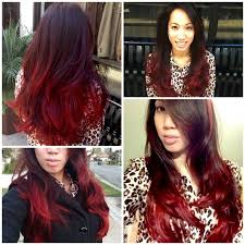 Red Ombre Hair Color Cut Style