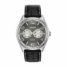 men s citizen eco drive strap watch with grey dial model ao9020 17h