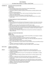 Furniture Designer Vacancies Furniture Designer Resume Samples Velvet Jobs