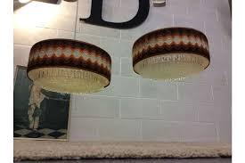 a pair 60s 70s retro ceiling light shade midcentury 1960 s 1970 s lamp shade