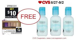free physicians formula makeup remover lotion at cvs 8 27 9 2