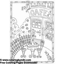 Lovely Garden Cafe Coloring Page 784 Coloring By Miki