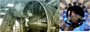 photo 1 aircraft mechanic works on repair photo 2 aircraft mechanic inspects engine turbine engine mechanic