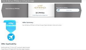 Jpmiles Upgrade Chart New Promotion To Earn And Burn Jetprivilege Miles On Etihad