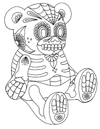Day Of The Dead Skeleton Coloring Pages At Getdrawingscom Free