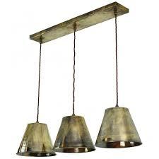 vintage industrial 3lt ceiling pendant
