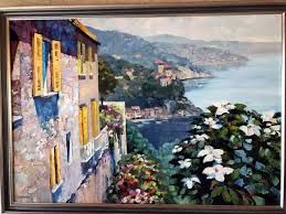 howard behrens original oil on canvas painting