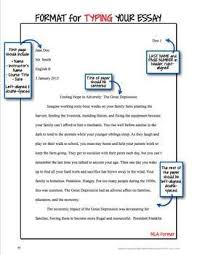 Research Essay Mla Format Format For Typing An Essay Mla Style Research Paper Pinterest