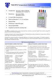 3 Wire Rtd Resistance Chart 7000 Rtd Temperature Calibrator Manualzz Com