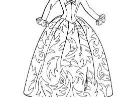 Dress Coloring Pages Dress Coloring Pages Barbie Coloring Pages