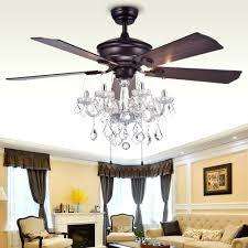 crystal chandelier ceiling fan light kit bead candelabra antique white
