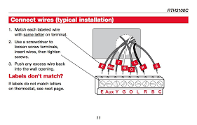 honeywell rth3100c thermostat wiring diagram honeywell rth3100c white wire at Rth3100c Wiring