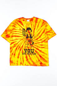 Fire Swirl Party Invitation Tie Dye Tee