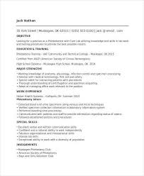 Entry Level Phlebotomy Resume Lovely Sample Phlebotomist Resume
