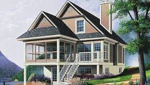 country house plan with 3 bedrooms and