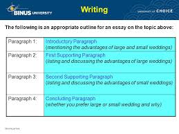 writing paragraph and essay pertemuan ppt video online  writing the following is an appropriate outline for an essay on the topic above paragraph